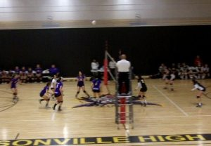 Girls varsity volleyball wins first playoff game 3-0