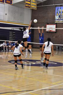 Girls varsity volleyball ruins the Bruins