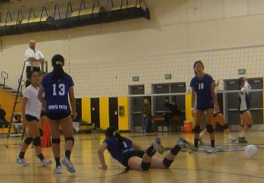 Girls varsity volleyball plays first CCS game at Watsonville