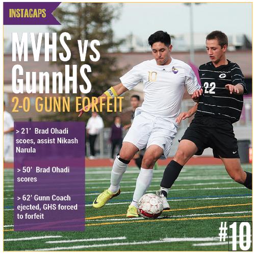 EEInstacap: Boys soccer VS Gunn High School