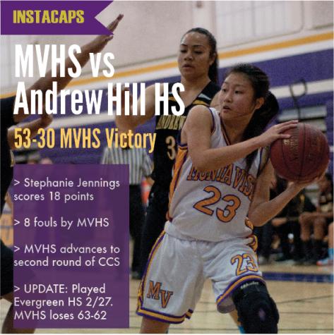 EEINSTACAPS: GIRLS BASKETBALL VS ANDREW HILL HIGH SCHOOL