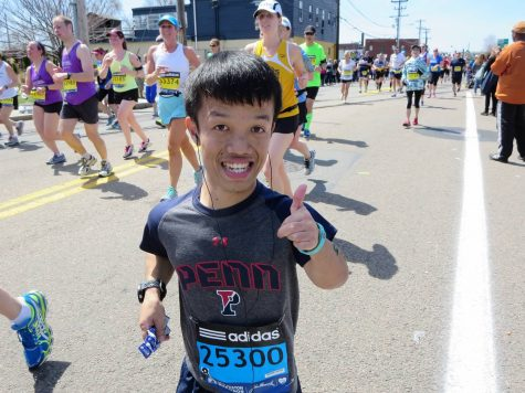Four-foot-two MVHS alumnus ran Boston Marathon