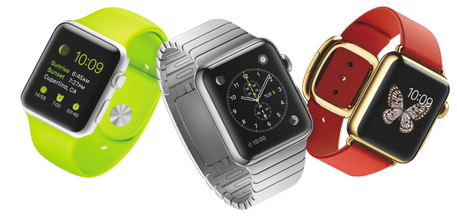 picture of the three apple watches that will be released in early 2015