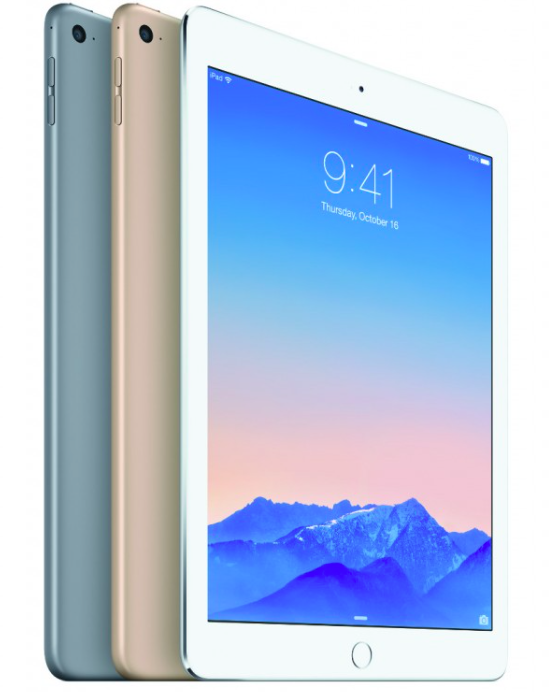 Newest iPad tablet Air 2 comes in three different colors. Apple released its latest devices, the Air 2 and iPad Mini 3, on Oct. 16. Source: Public Domain