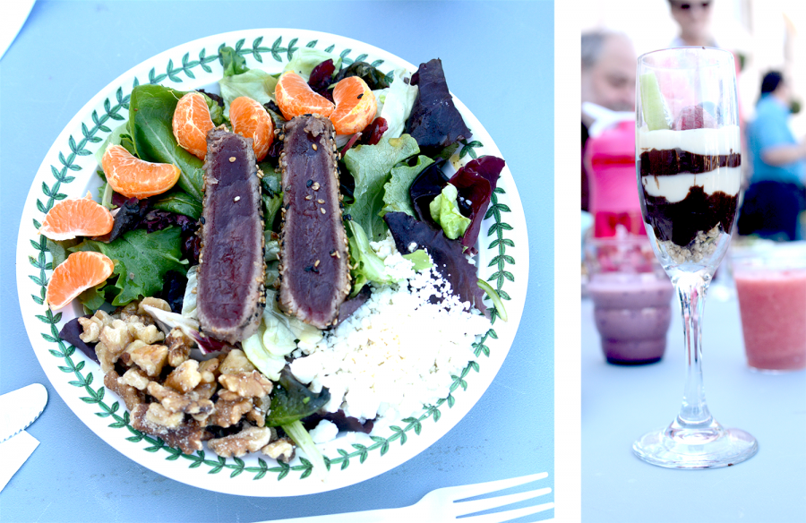 The+Ahi+tuna+salad%2C+fruit+parfait%2C+and+sugar-free+smoothies+won+the+Masterchef.+Edibles+was+the+winning+group+out+of+the+four+teams.+Photos+by+Justin+Kim.+