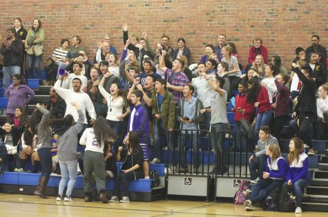 Purple and Gold Pride: Basketball quad night at Lynbrook HS