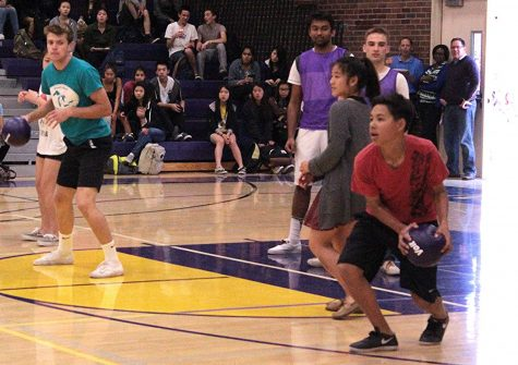 Students win in the student-teacher dodgeball game for Celebration Week