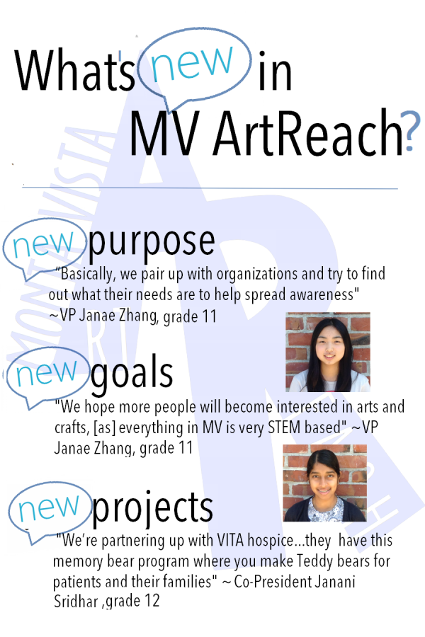 Here are some of the new ideas that MVArtReach.