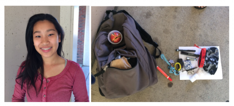 Who Are We? Students' backpacks reflect their personalities