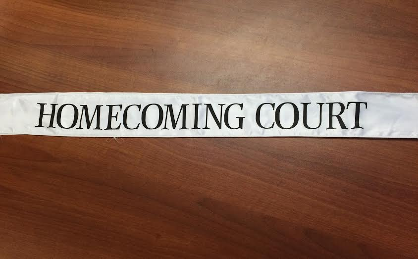 The new homecoming sash. Photo by Jessica Xing