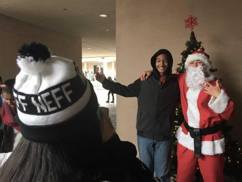 Polaroids with Santa get students into holiday spirit
