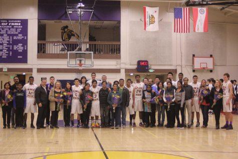 Boys basketball: Senior recognition