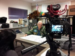 American Studies students interview war veterans for documentary project