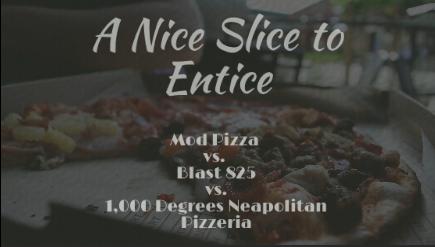 Who did it better? MOD pizza vs. Blast 825 Pizza vs. 1,000 Degrees Neapolitan Pizzeria