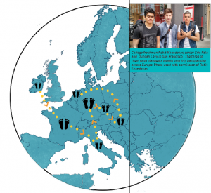 One step at a time: three friends backpack across Europe