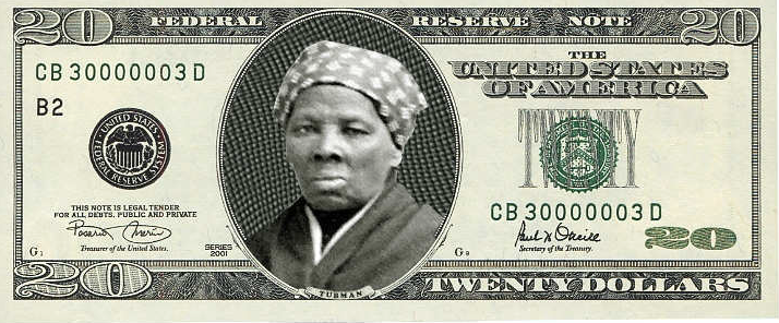 Harriet Tubman On The Twenty Dollar Bill El Estoque