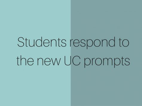 Students respond to the new UC prompts