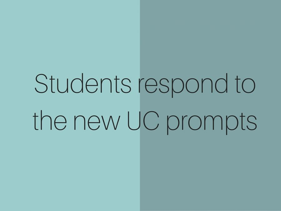 Students Respond To The New UC Prompts El Estoque
