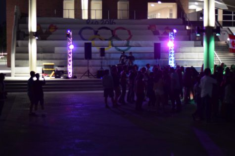 Seniors dress up at this year's Olympic themed Welcome Back Dance