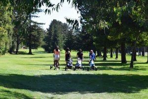MVHS Varsity Golf Team: Team bonding with practice