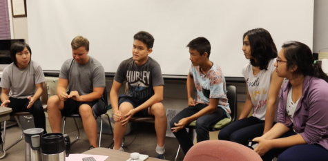 Students debate about the upcoming presidential election