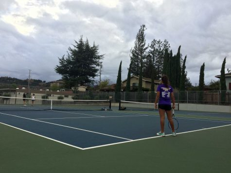 Girls tennis: Team picks up first home win of season against Gunn HS