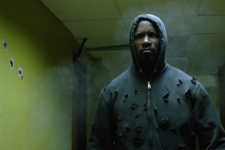 Mike Colter stars in the new Netflix superhero series Luke Cage. Courtesy of Netflix