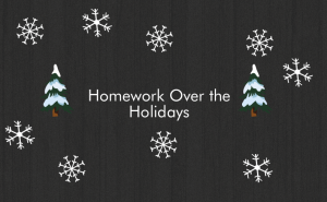 Homework Over the Holidays