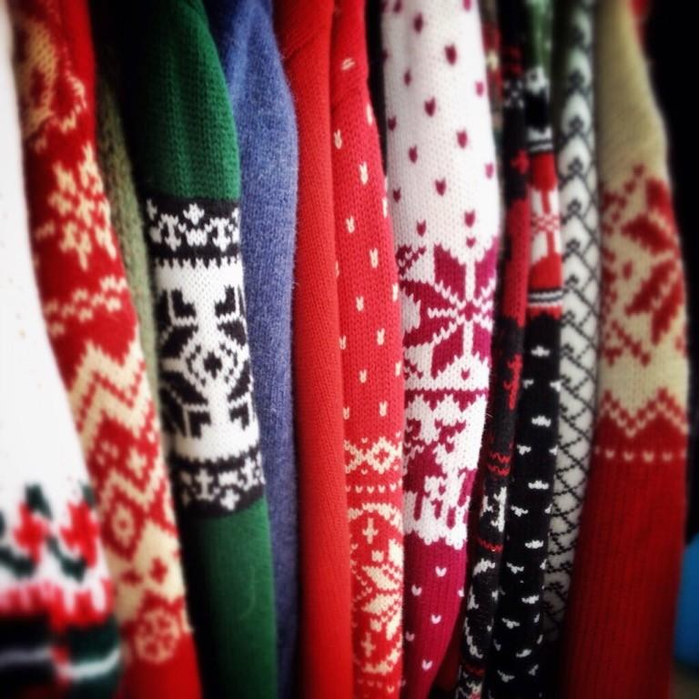 Holiday week: Students model ugly sweaters