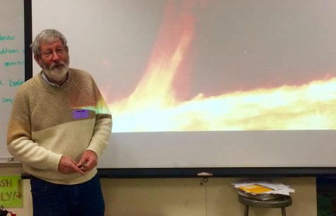 NASA astrophysicist Jeffrey D. Scargle starts his presentation off with a video of a solar flare. Scargle's presentation was on the