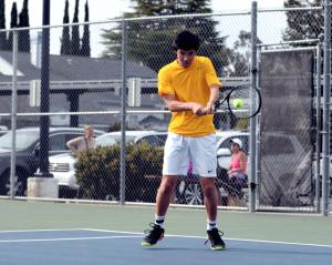 Photo gallery: Boys tennis sweeps Menlo-Atherton HS and Los Gatos HS