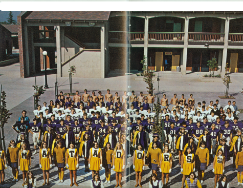 A group photo in MVHS's first yearbook in 1970. Photo used with permission of El Valedor.
