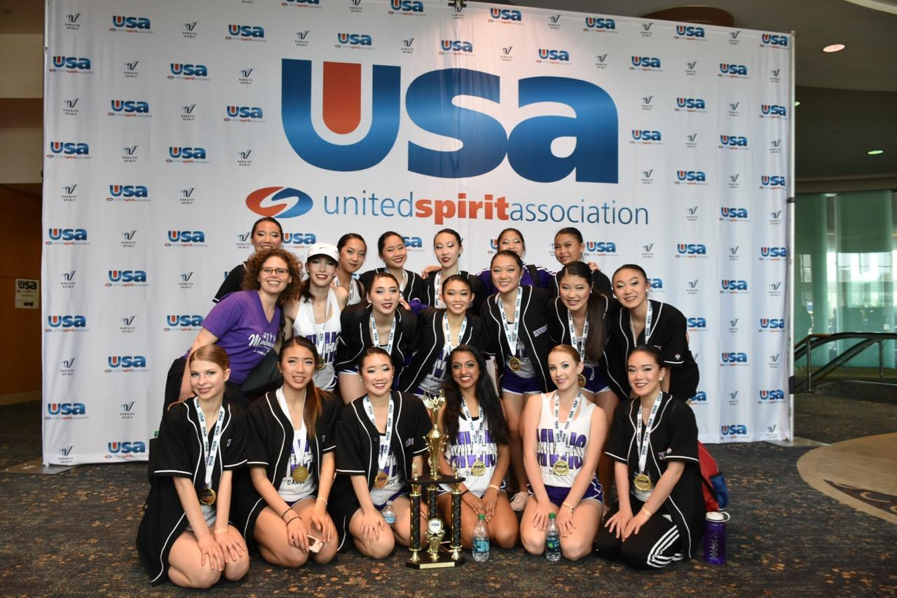 Barron and the 2016-2017 Marquesas at Nationals. The team became national kick champions at the competition, which takes place in Anaheim, Calif.
