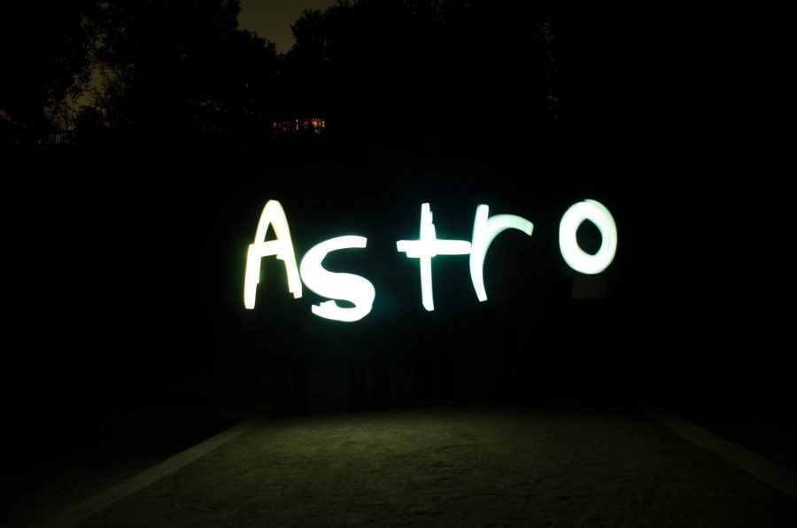 MV Astro's first view of the stars