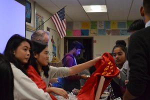 Leo Club members discuss participation in club events
