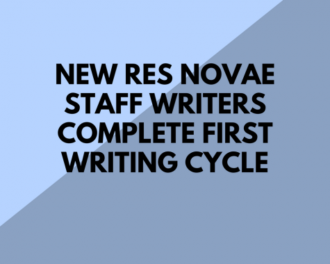New Res Novae staff writers complete first writing cycle