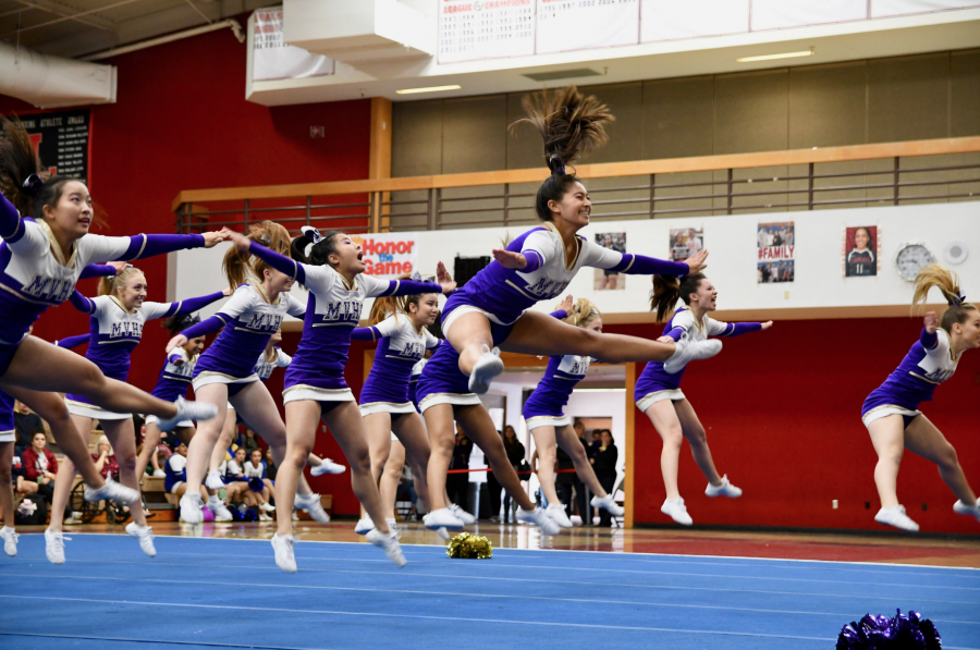 Spirit: Team performs in competition at James Logan HS