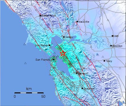 Earthquakes strike the Bay Area