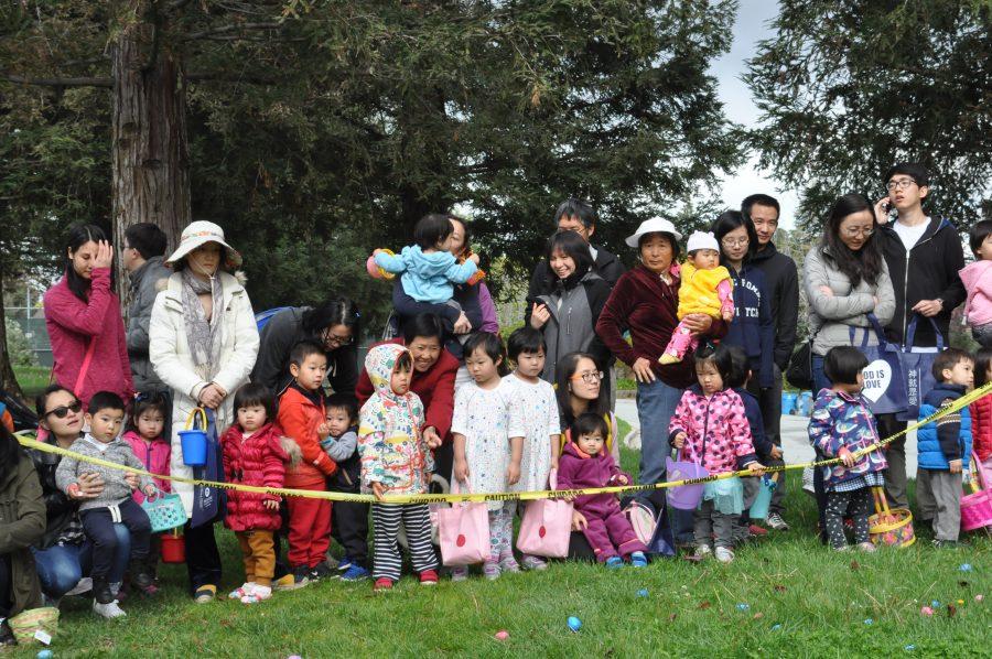 Annual egg hunt at Memorial Park
