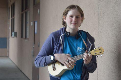 A ukulele heard through the walls
