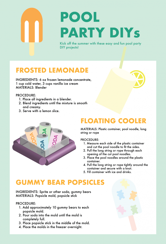 Spending Sunday In Floating Frozen >> Pool Party Diys El Estoque