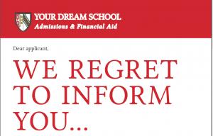 We regret to inform you…