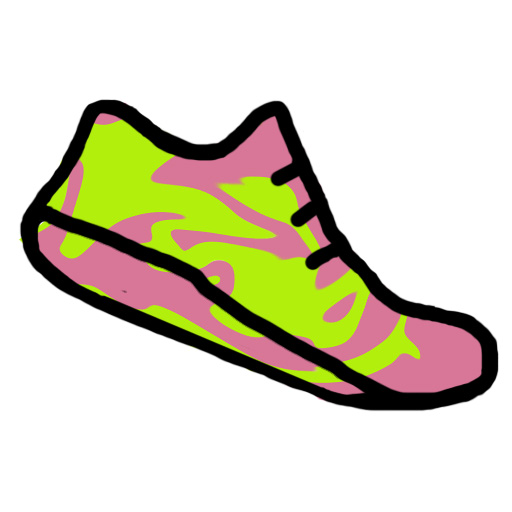 The girl with neon shoes