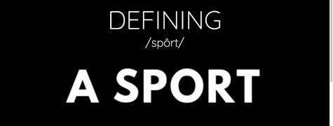 Defining a sport