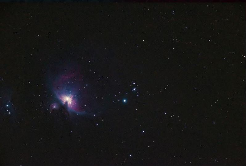 Photo of Orion Nebula Co-President Eric Yang submitted for an astrophysics competition. Photo courtesy of Eric Yang
