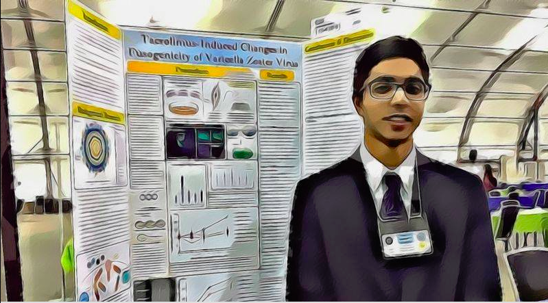 In the lab: Vivek Kamarshi receives recognition for science project