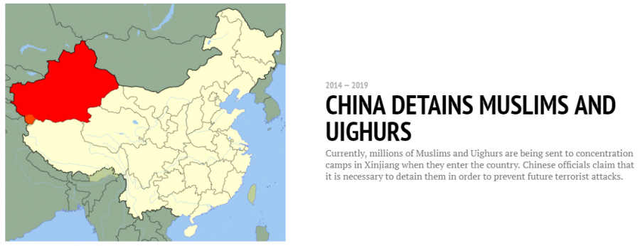 "China currently holding Muslims in ""re-education camps"""