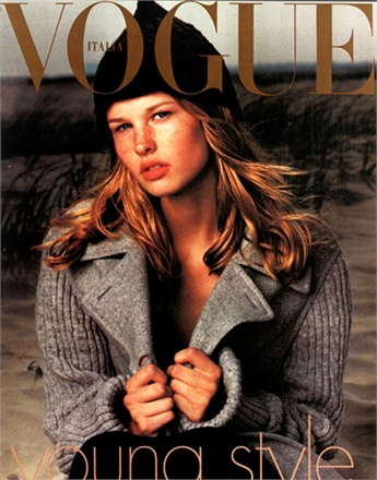 14 year old Amy Lemons pictured on the cover of the 2012 Italian Vogue magazine.