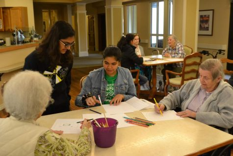 Engaging in intergenerational conversation: CSF volunteers at retirement home
