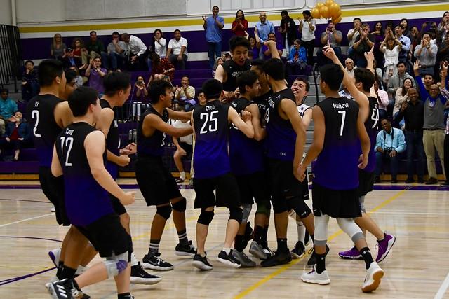 Boys volleyball wins league championship on their senior night